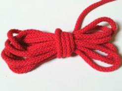 runde Kordel rot