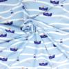 Borkum Jersey Stoff blau SanDaLu