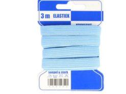 hellblaue Gummilitze auf Pappkarte