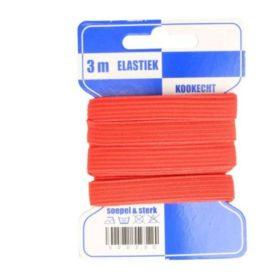 rotes 10mm breites Gummiband auf Pappkarte