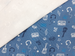 Sommersweat Music Love blau Rückseite
