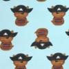 Detail Stoff Bärchen mit Piratenhut