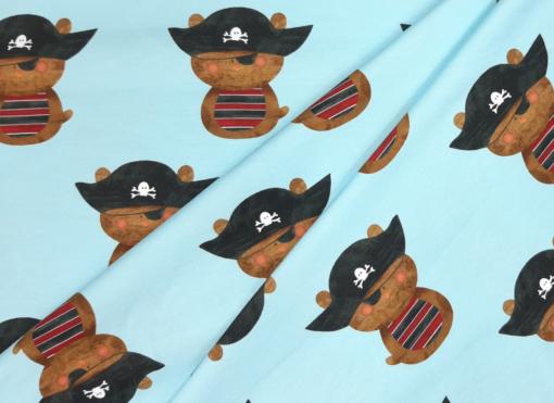 Stoff Piratenbär in Falten