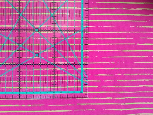 scripted Stripes fuchsia