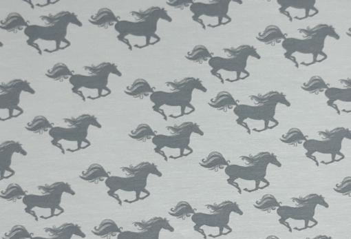 Stoff mit Pferden