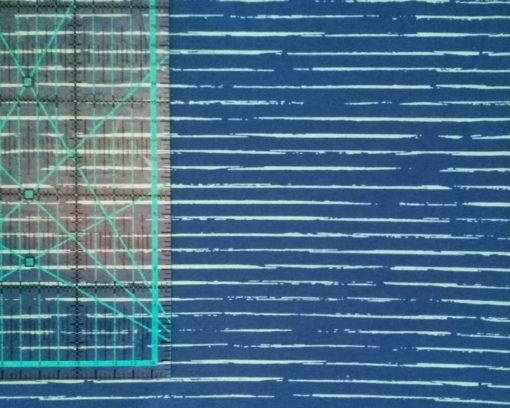 unregelmäßige Streifen blau hellgrün