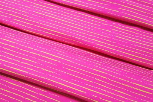 Stoff mit unregelmäßigen Streifen pink