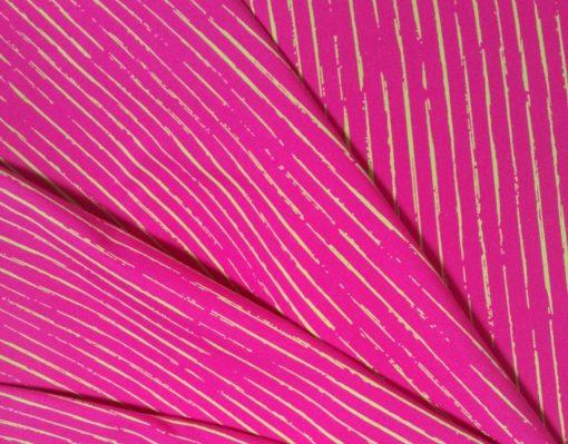 Skribbel Streifen pink Falten