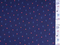 Stoff Anker und Sterne Webkante
