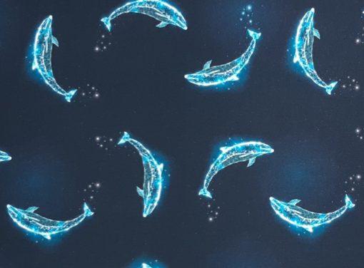 Jersey Delphine dunkelblau Detail