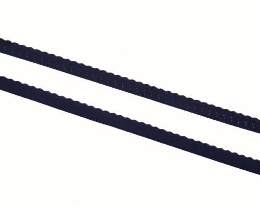 Gummiband mit Bogenkante dunkelblau