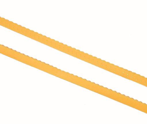 Gummiband mit Wellenkante gelb