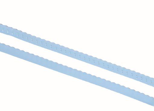 Gummiband mit Wellenkante hellblau