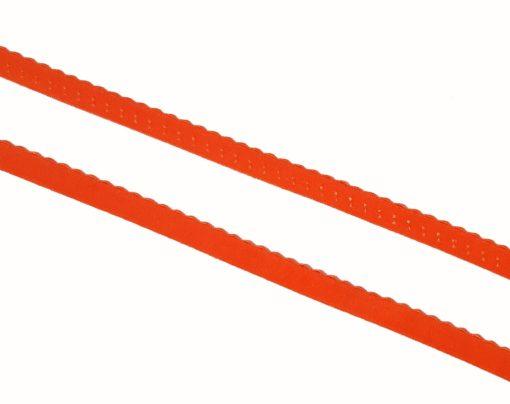 Falzgummi mit Wellenkante orange