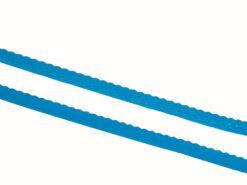 Gummiband mit Bogenkante türkis