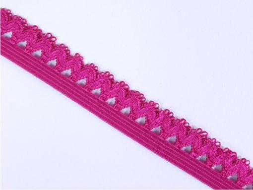Gummi mit Picot Spitze pink Detail