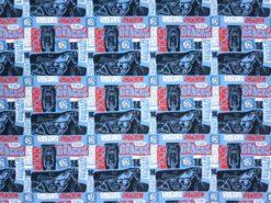 Sommersewat mit Motorrädern blau