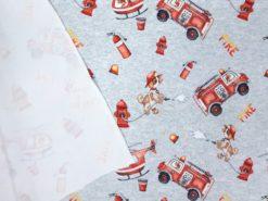 Feuerwehr Jersey Stoff Rückseite