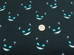 Stoff mit grinsender Katze Euro Größenvergleich