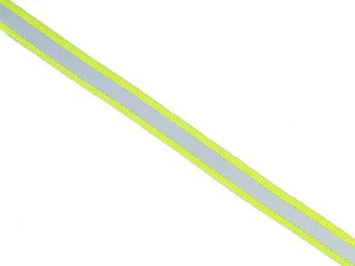 schmales Band mit Reflektorstreifen, neongelb