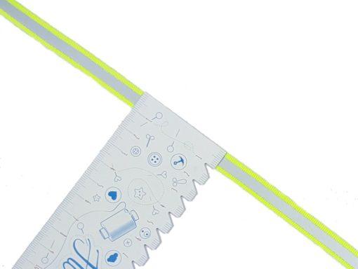 neon gelbes Reflexband Lineal