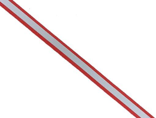 rotes Reflektorband zum Aufnähen
