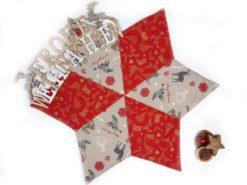Weihnachtsdecke mit Hirsch und Engel