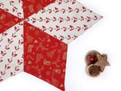 handgefertigtes Weihnachtsdeckchen mit Hühnern SanDaLu Detail
