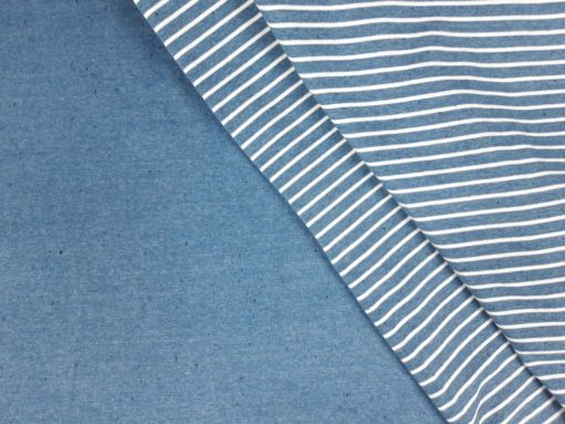 SanDaLu Streifen und uni Kombi blau
