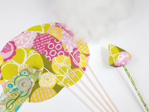 SanDaLu Nähpaket Tulpen grün pink