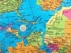 Baumwoll Webware Karte Euro
