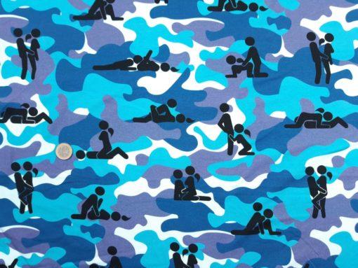 SanDaLu Kamasutra Stoff blau Überblick