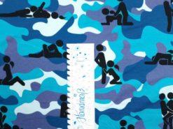 SanDaLu Jersey Kamasutra blau Lineal senkrecht