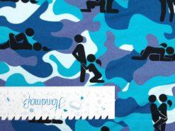 anDaLu Jersey Kamasutra blau Lineal senkrecht