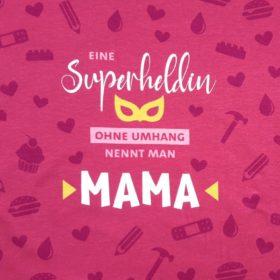 SanDaLu Stoff Panel Mama Superheldin
