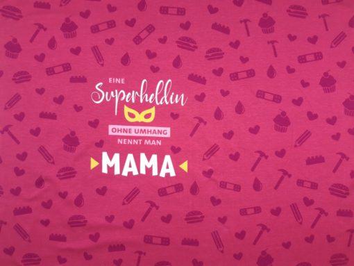 Stoff Panel Mama Superheldin