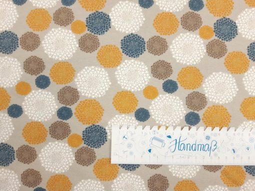 SanDaLu Jersey mit Mandala Naturtöne Lineal waagerecht