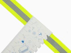 SanDaLu neon gelbes Band mit Reflektorstreifen Lineal