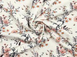 Jersey mit rosa Mohnblumen Strudel