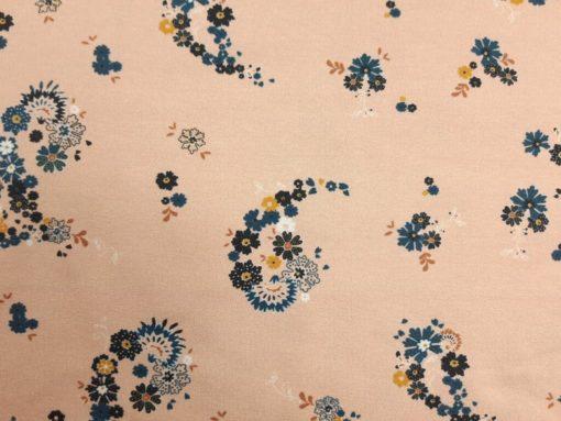 Stoff mit kleinen Blumen Paisley Detail