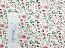 weißer jersey stoff mit rosen SanDaLu Lineal